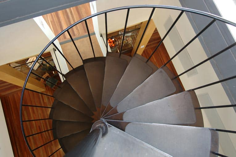 Moving up and down a spiral stair can be daunting for children and elderly. The width of the inner tread is very significant to a staircase's safety.