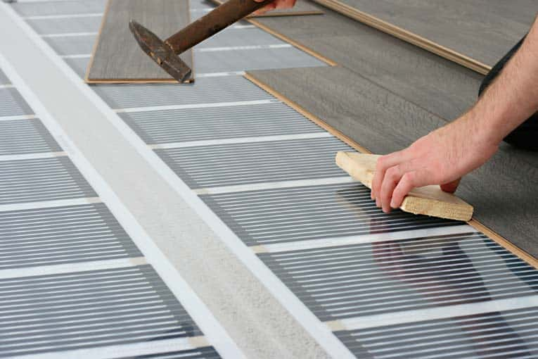 this electric heating system is designed to go directly beneath surface flooring - Radiant Floor Heat