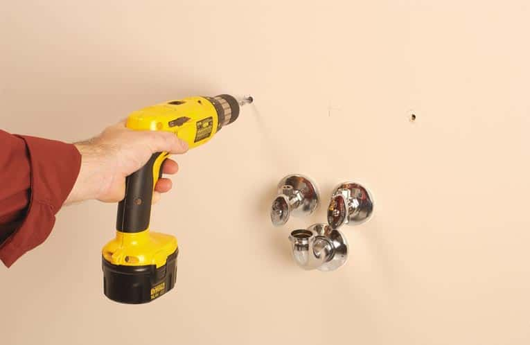 Drill Holes For Screws And Fasteners.