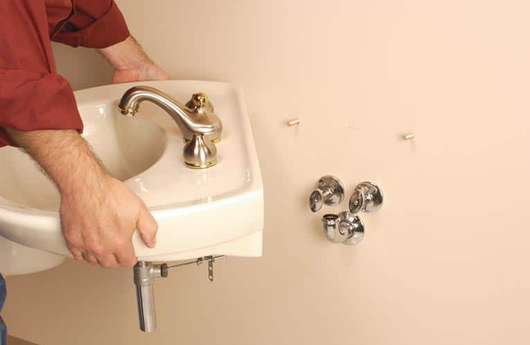 Secure The Sink Or Mounting Plate To The Wall.