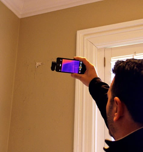 thermal camera water damage