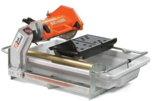 Tile saw make quick work of cutting ceramic tile.