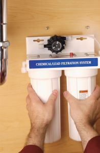 Secure water filtration unit.