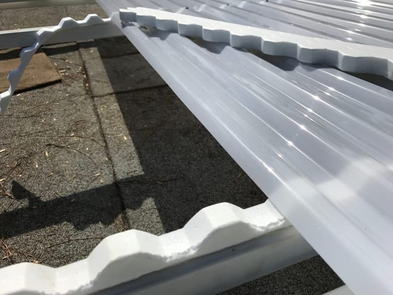 closure strips on polycarbonate roofing