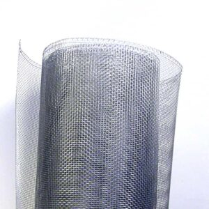 A roll of aluminum wire mesh in white background.