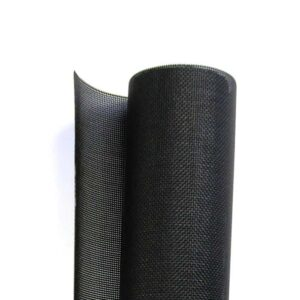 A roll of solar screen mesh in white background.
