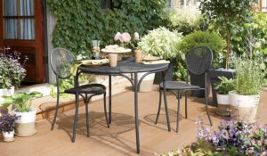 Metal outdoor bistro table