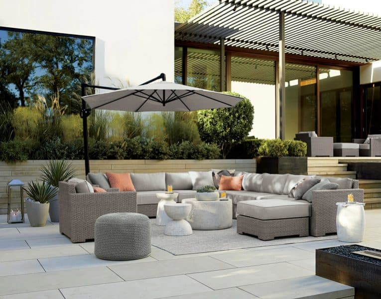 Upholstered outdoor sofas