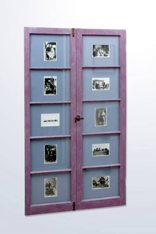 wood windows as photo frames