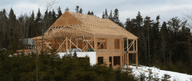 Passive house under construction.